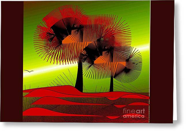 Autumn Colours Greeting Card by Iris Gelbart