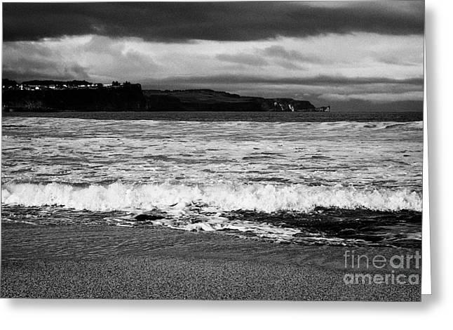 Ballycastle Beach In Winter County Antrim Northern Ireland Greeting Card