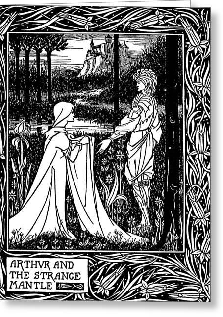 Beardsley Morte D'arthur Greeting Card by Granger