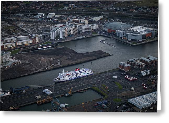 Belfast At Dawn, Northern Ireland Greeting Card by Colin Bailie