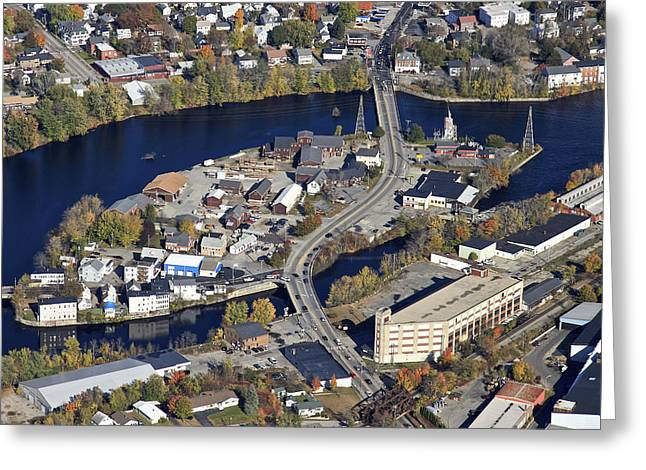 Biddeford And Saco, Maine Greeting Card by Dave Cleaveland