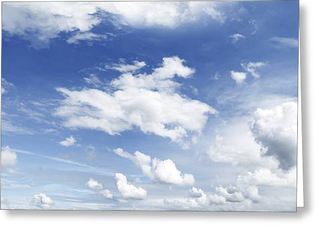 Big Blue Sky Greeting Card by Les Cunliffe