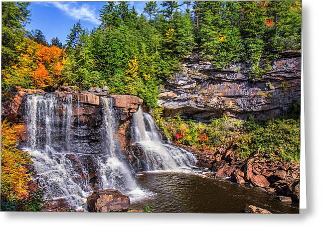 Blackwater Falls Greeting Card by Mary Almond