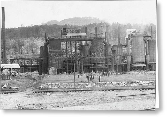 Blast Furnaces Greeting Card by Hagley Museum And Archive