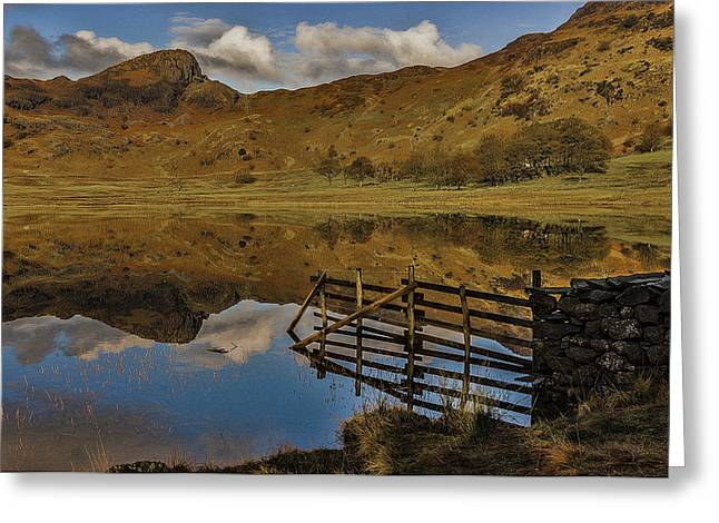 Blea Tarn Greeting Card by Trevor Kersley