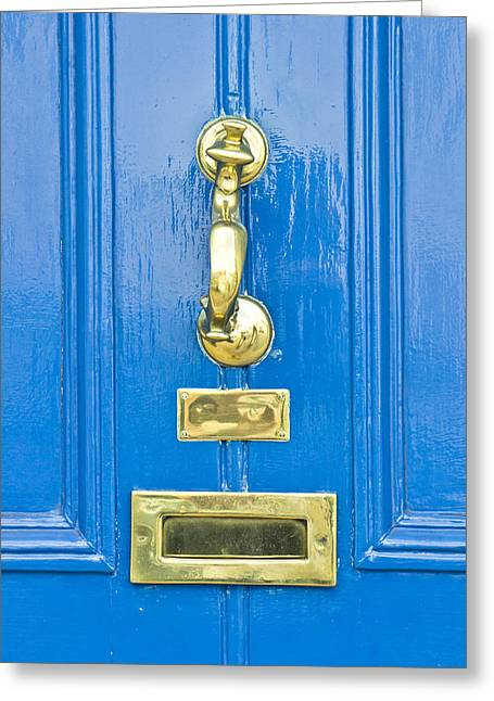 Blue Door Greeting Card by Tom Gowanlock