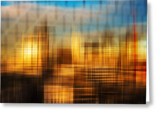Blurred Abstract Colorful Background Greeting Card by Matthew Gibson
