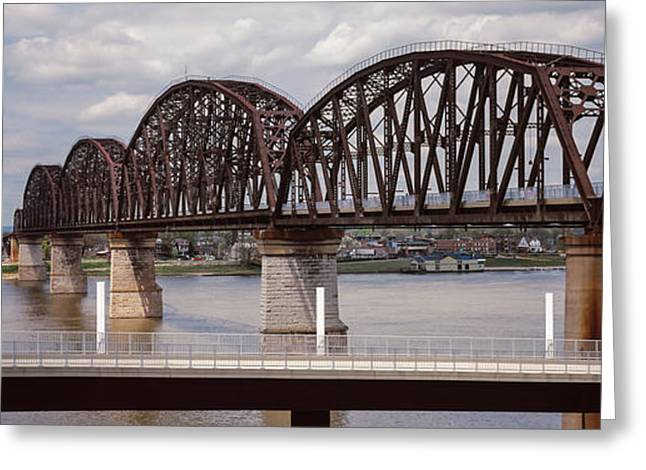 Bridge Across A River, Big Four Bridge Greeting Card by Panoramic Images