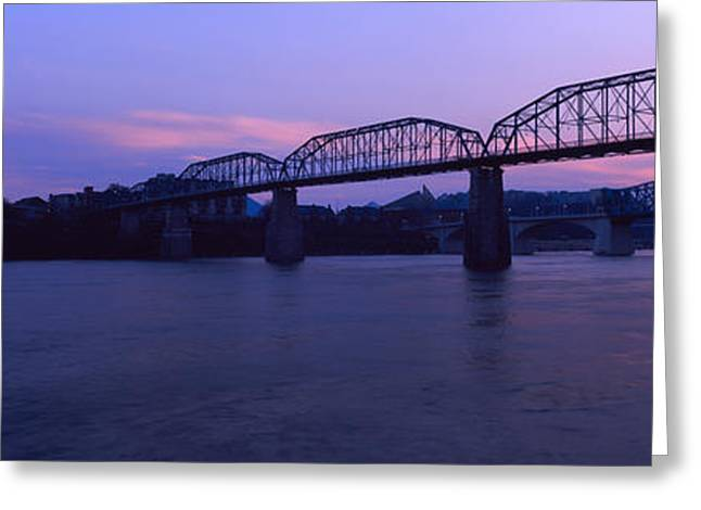 Bridge Across A River, Walnut Street Greeting Card by Panoramic Images