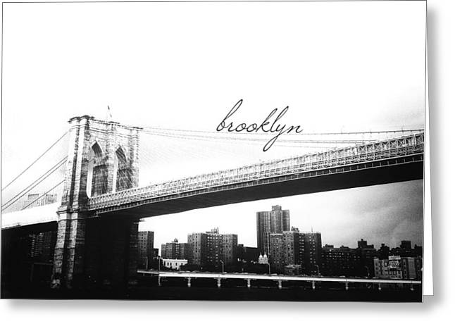 Brooklyn Greeting Card by Natasha Marco