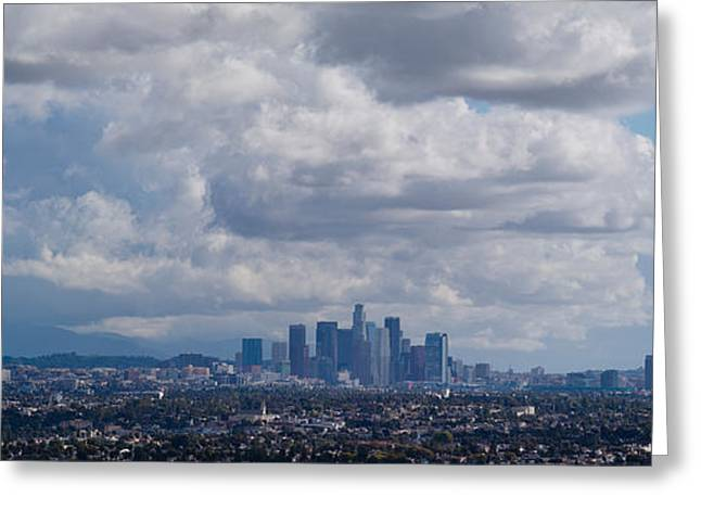 Buildings In A City, Los Angeles Greeting Card by Panoramic Images