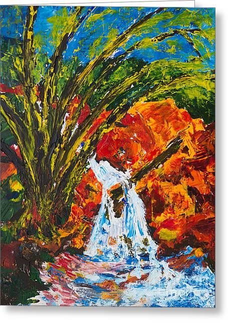 Burch Creek Waterfall Greeting Card