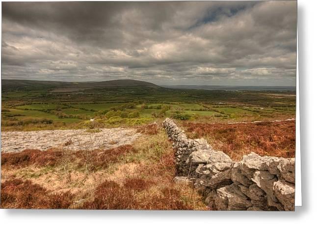 Burren View Greeting Card by John Quinn