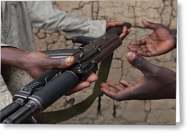 Burundi-peace Greeting Card by Ton Koene