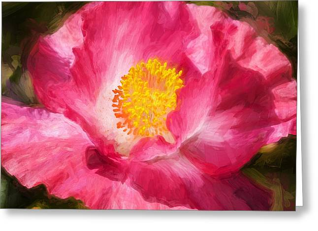California Poppies Painted Greeting Card