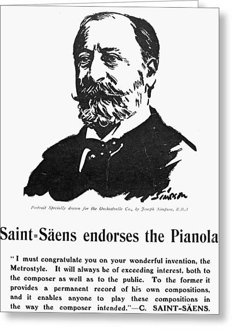 Camille Saint-saens (1835-1921) Greeting Card by Granger