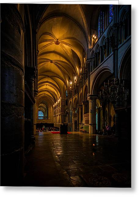 Canterbury Cathedral  Greeting Card by Ian Hufton