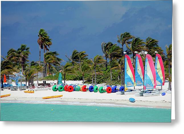 Caribbean, Bahamas, Castaway Cay Greeting Card by Kymri Wilt