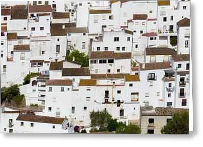 Casares, Spain. Whitewashed Town Greeting Card
