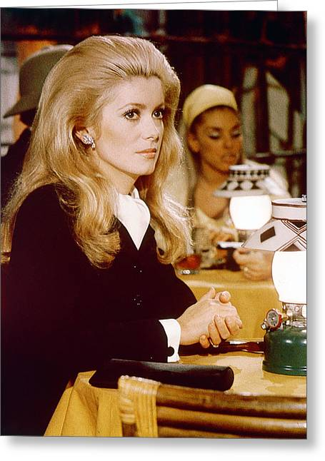 Catherine Deneuve Greeting Card by Silver Screen