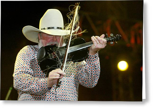 Charlie Daniels Greeting Card by Don Olea