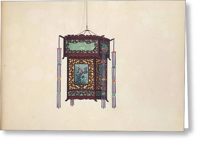 Chinese Lantern Greeting Card by British Library