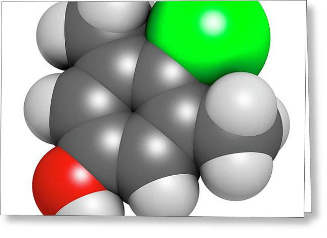 Chloroxylenol Antiseptic Molecule Greeting Card by Molekuul