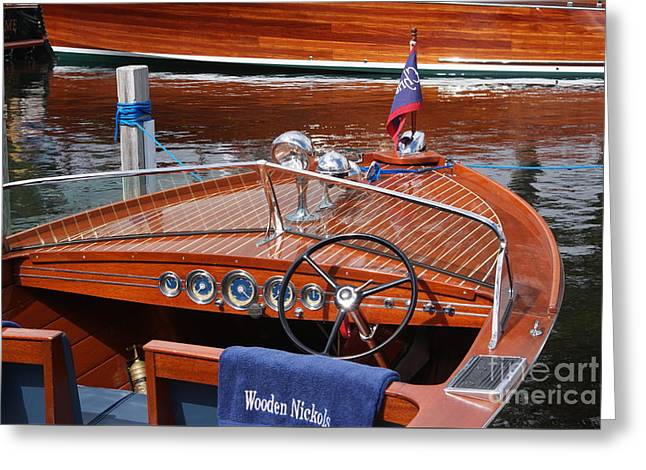 Chris Craft Sportsman On Lake Geneva Greeting Card