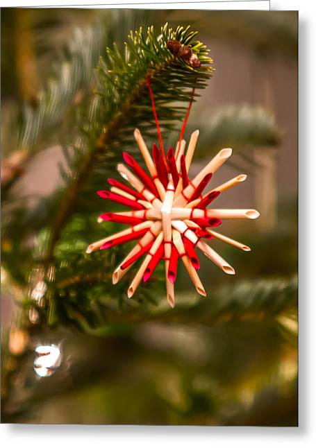Greeting Card featuring the photograph Christmas Tree Ornaments by Alex Grichenko