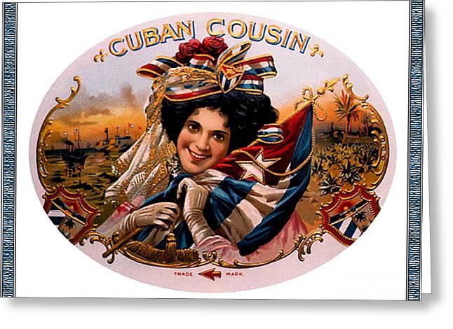 Cigar Label Greeting Card