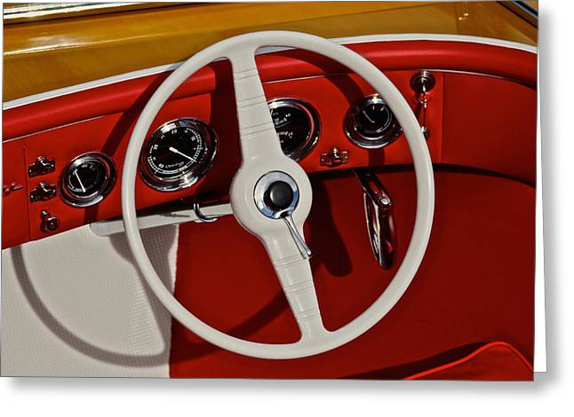 Classic Chris Craft Greeting Card by Steven Lapkin