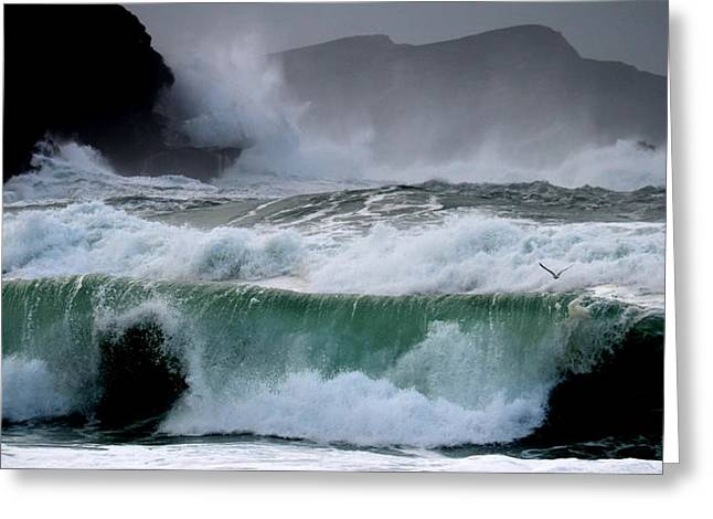 Clogher Waves Greeting Card