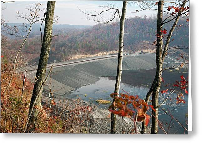 Coal Sludge Dam Greeting Card by Jim West