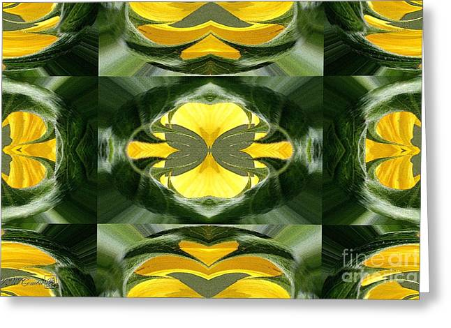 Color Fashion Abstract Greeting Card by J McCombie