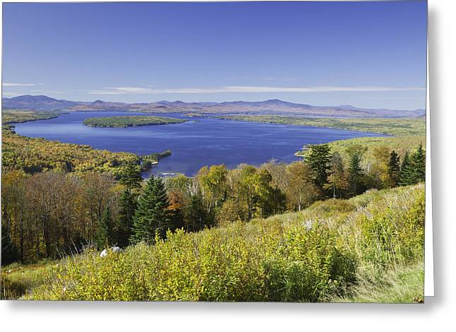 Colorful Fall Forest Near Rangeley Maine Greeting Card by Keith Webber Jr