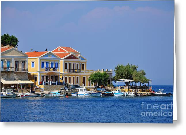 Colorful Symi Greeting Card