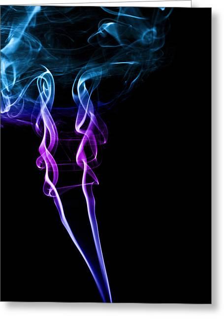 Colourful Smoke Greeting Card