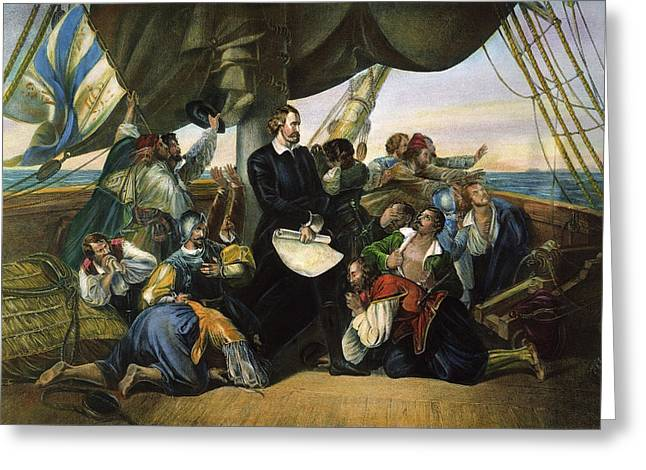 Columbus New World, 1492 Greeting Card by Granger