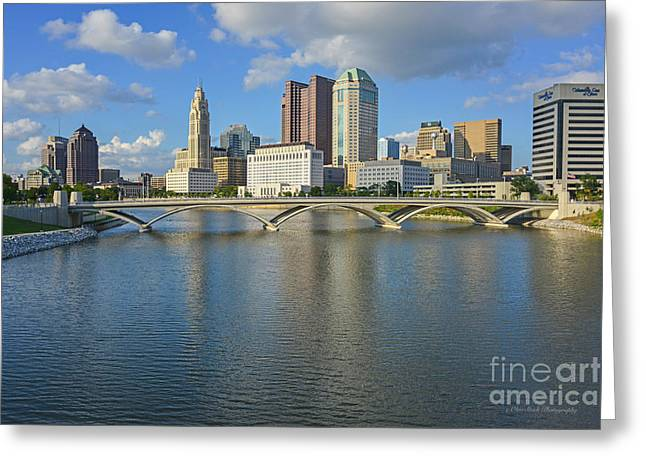 Fx1l-802 Columbus Ohio Skyline Photo Greeting Card