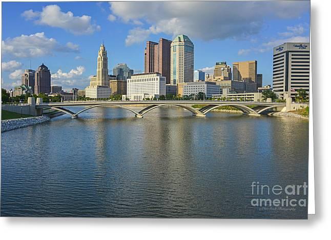 Fx1l-802 Columbus Ohio Skyline Photo Greeting Card
