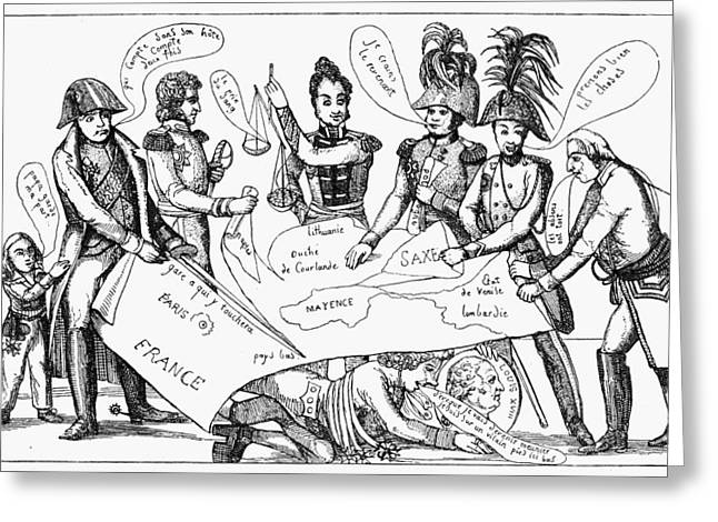 Congress Of Vienna, 1815 Greeting Card