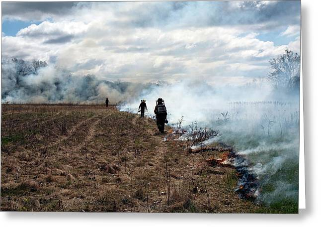 Controlled Fire Greeting Card