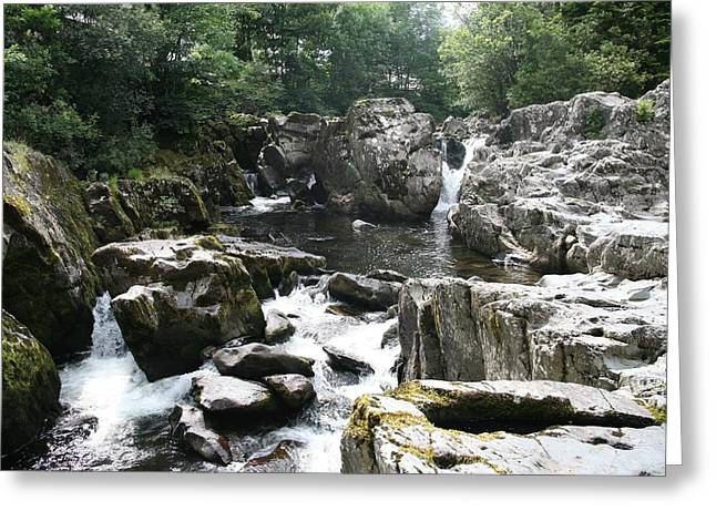 Conwy River Near Betws Y Coed.  Greeting Card by Christopher Rowlands
