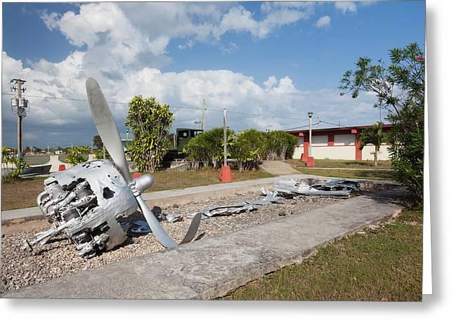 Cuba, Matanzas Province, Playa Giron Greeting Card by Walter Bibikow