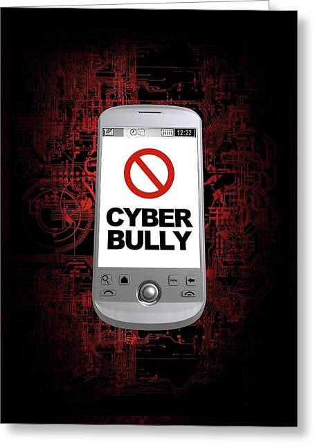 Cyber Bullying Greeting Card by Victor Habbick Visions/science Photo Library