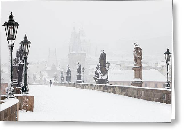 Czech Republic, Prague - Charles Bridge Greeting Card by Panoramic Images