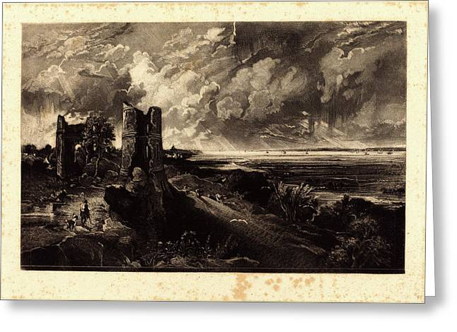 David Lucas After John Constable, British 1802-1881 Greeting Card by Litz Collection