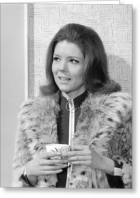 Diana Rigg In The Avengers Greeting Card