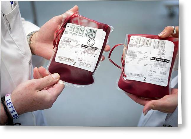 Donated Blood Greeting Card by Aberration Films Ltd