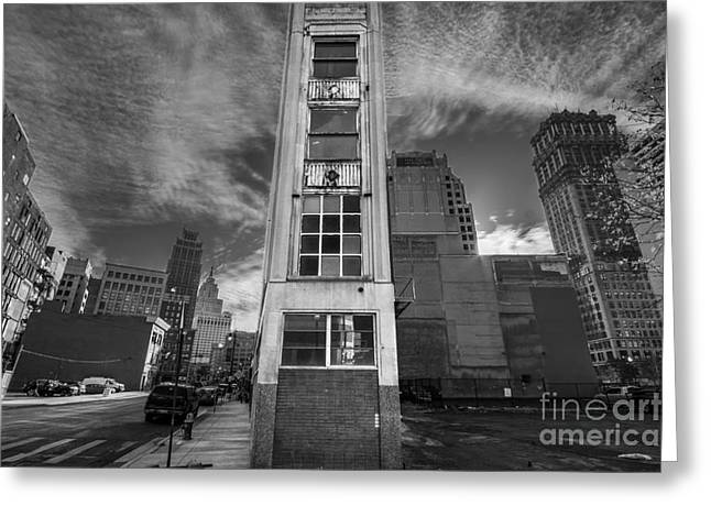 Downtown Synagogue In Detroit Greeting Card by Twenty Two North Photography